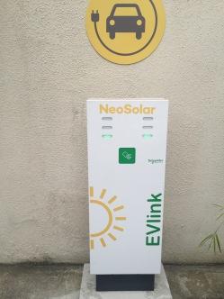 Estação solar de recarga