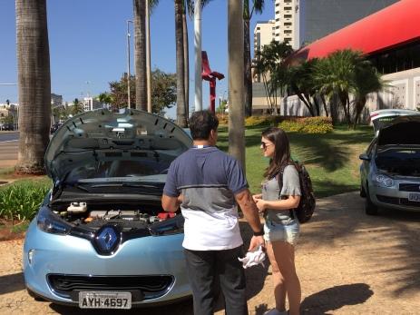 Renault Zoe da Eletrobrás.