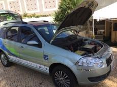 Palio Weekend convertido para elétrico em parceria da Fiat e Itaipu.