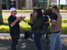 Rogério é entrevistado pelo SBT
