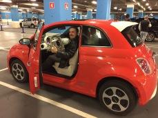 Fiat 500e. Uma gracinha e bom de dirigir.