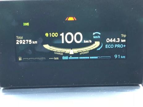 A autonomia foi aumentando. Aqui com cerca de 3/4 da bateria, eram 91 km